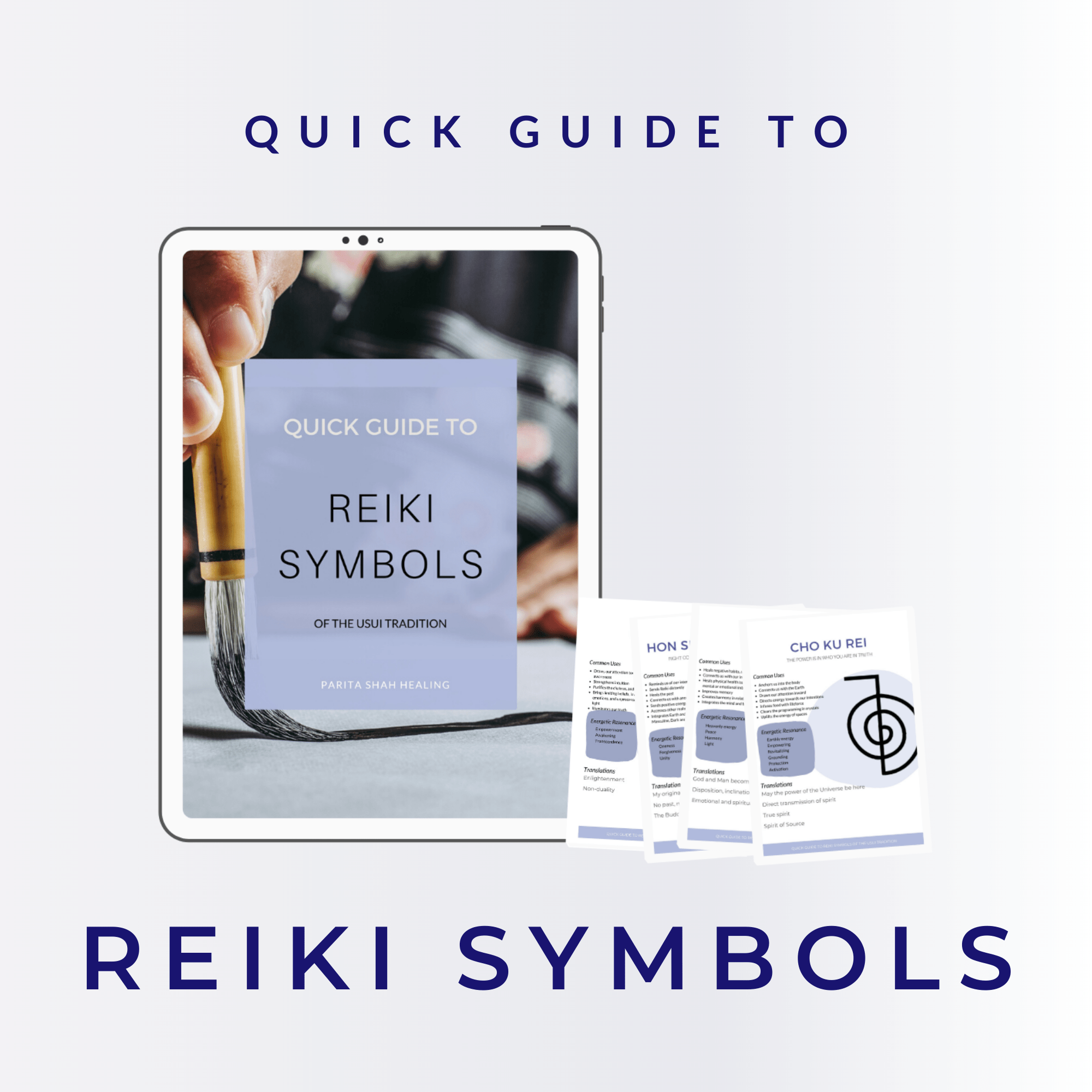 Reiki Symbol Quick Guide Cheat Sheet Reference Chart